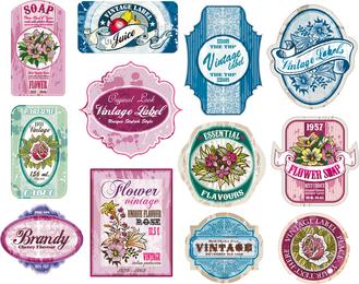 Vintage Wine Label Collection 02 Vector