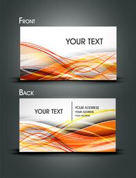 Gorgeous Dynamic Flow Line Card Vector