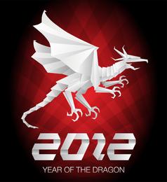 2012 ano do dragão 04 vector
