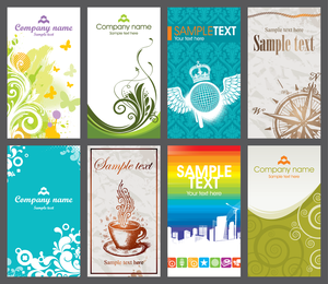 Several Card Template Vector