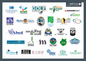 Logo1 de golfe de vetor