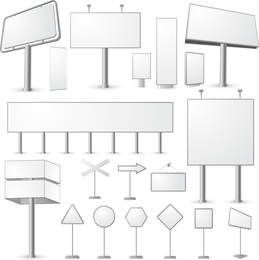 Blank Billboard Series Vector