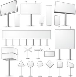 Vector de serie de cartelera en blanco