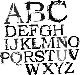 Vector de tema de letra incompleta