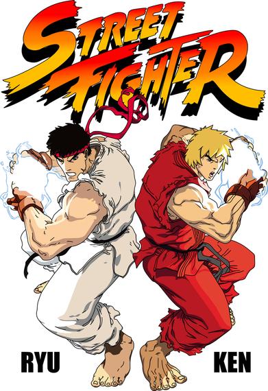 Arquivos de origem de vetor de Street Fighter