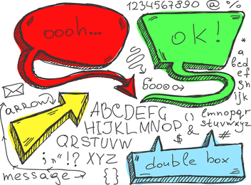 Lovely Handdrawn Dialogue Bubble Vector 2