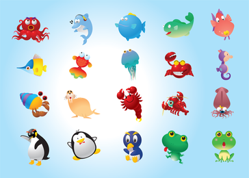 Una variedad de animales Super Cute