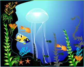 Vector mundo submarino