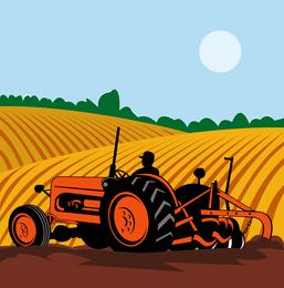Vetor de ilustrador de agricultura