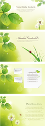 Vibrant Foliage Theme Vector