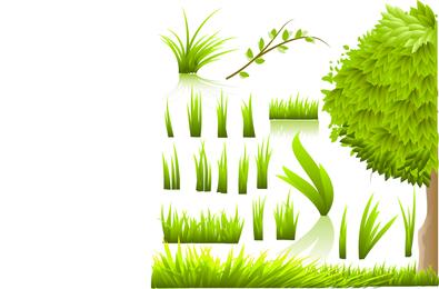 Green grass illustrations