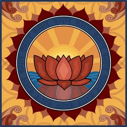 Vector Lotus Motif
