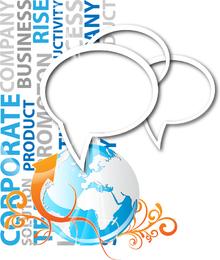 Vector de tendencia de diálogo de concepto de negocio 3
