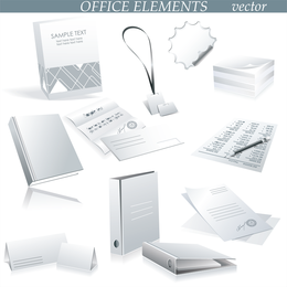 Business Office Supplies Vector