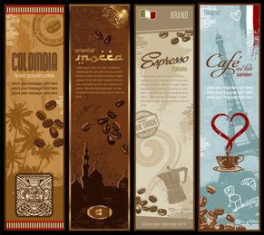 Coffee Bnner Theme Vector