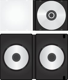 Vector de embalaje de cd dvd en blanco