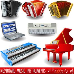 Piano Theme Of Vector