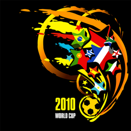 Vector Copa do Mundo 2010 na África do Sul
