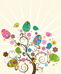Vetor de série de ovo de Páscoa