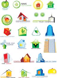 Vetor de gráficos do logotipo de tema de casa