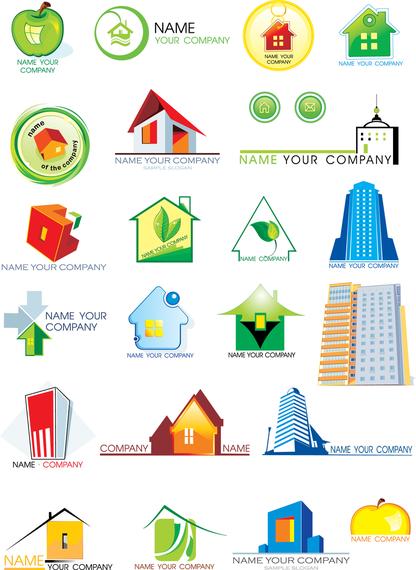 House Theme Logo Graphics Vector
