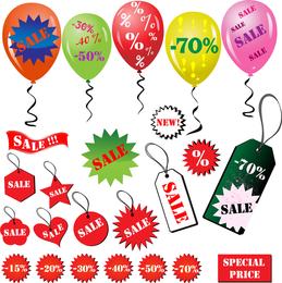Discount Sales Element Vector