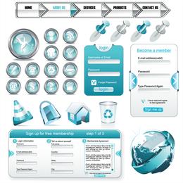 Web-Design-Elemente Vektor verwendet