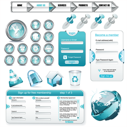 Web Design Elements Vector Usado