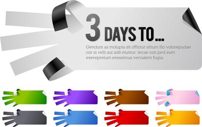 5 tipos de gestos en forma de papel Vector de papel
