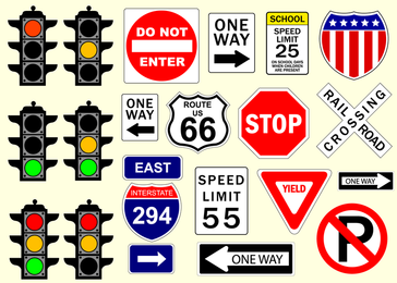Vetor de sinais de trânsito