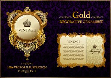 plantillas de tarjetas y emblemas vintage