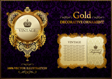 vintage emblem and card templates