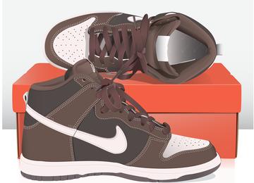 Vetor De Sapatos Nike Fino