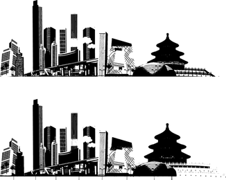Impresión del vector de beijing