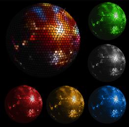 Bola de cristal de vetor de discoteca