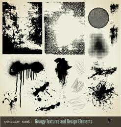 Vector de textura de puntos de tinta