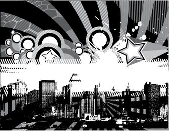 Vector colorido metrópole