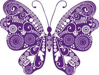 Ilustração de borboleta com redemoinhos