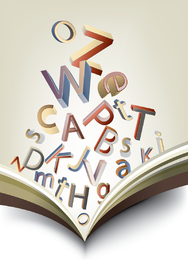 Books Letters 02 Vector