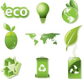 Vector Set Of Global Eco