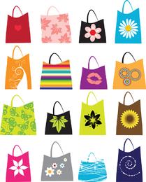 16 sacolas de compras de vetor grátis