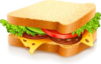 Fast Food Vector Sandwich