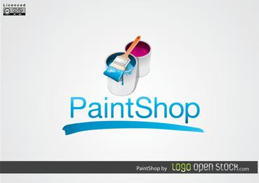 Logotipo da loja de tintas