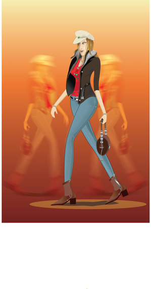 Lady Vector Poster