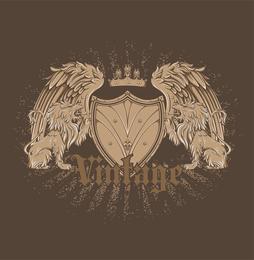 Vector libre Vintage Emblem 2