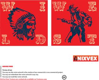 Nixvex Wild West Free Vector