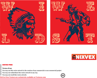Nixvex Wild West Vector Gratis