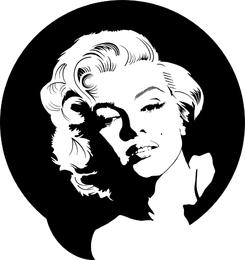 Marilyn Monroe Vector in Schwarzweiss