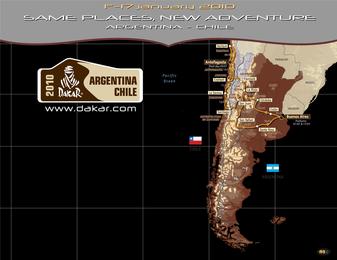 Fondo de pantalla del Dakar 2010