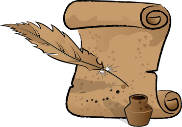 Inkstand And Feather Vector